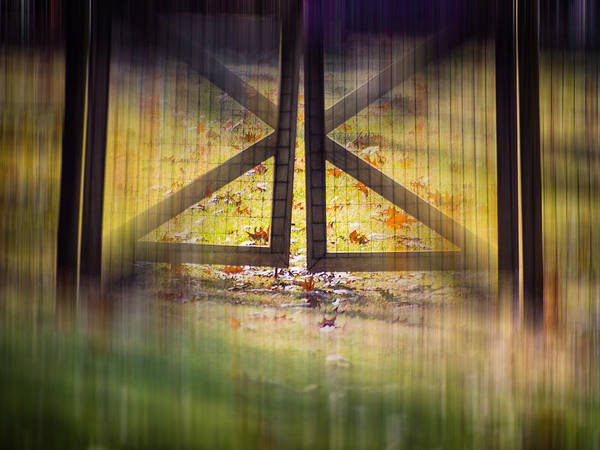 Photograph - Blurred Gates by Robin Zygelman