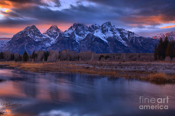 Photograph - Blurred Snake River Sunset Reflections by Adam Jewell