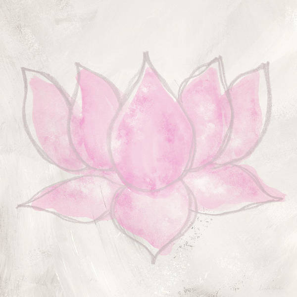 Wall Art - Mixed Media - Blush Lotus- Art By Linda Woods by Linda Woods