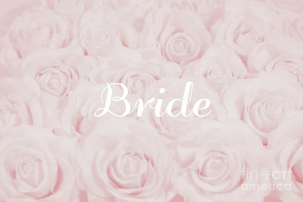 Wedding Flower Photograph - Blush Pink Bride by Lucid Mood