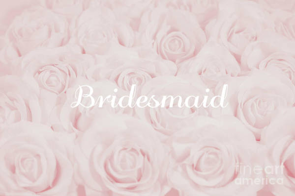 Wedding Flower Photograph - Blush Pink Bridesmaid by Lucid Mood
