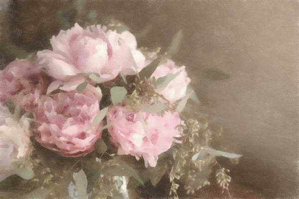 Mixed Media - Blush Pink Peonies by Susan Maxwell Schmidt