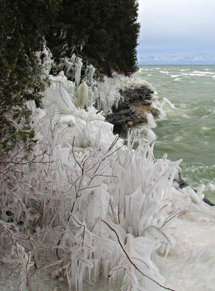 Photograph - Blustery Lake Michigan Day by Greta Larson Photography