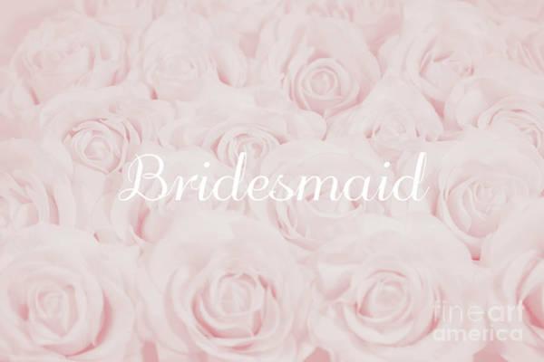 Wall Art - Photograph - Blush Pink Bridesmaid by Lucid Mood
