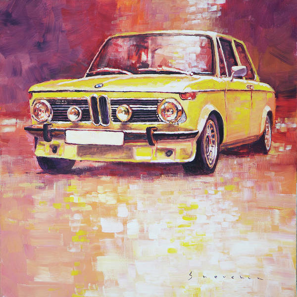Wall Art - Painting - Bmw 2002 Turbo by Yuriy Shevchuk