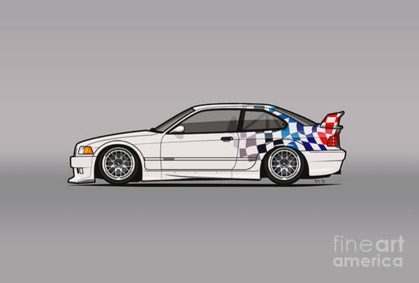 Wall Art - Digital Art - Bmw 3 Series E36 M3 Gtr Coupe Touring Car by Tom Mayer
