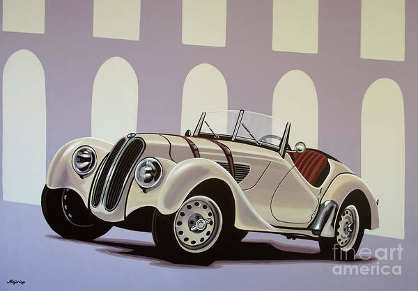 Wall Art - Painting - Bmw 328 Roadster 1936 Painting by Paul Meijering