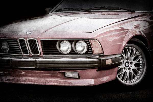 Photograph - Bmw 635csi Grille -1718ac by Jill Reger