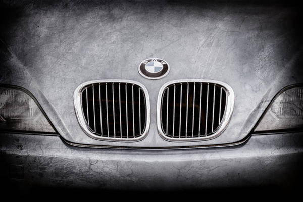 Photograph - Bmw Grille -1123ac by Jill Reger
