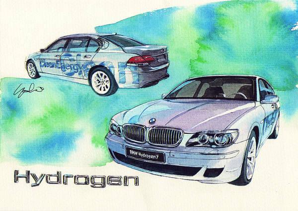 Bmw Painting - Bmw Hydrogen 7 by Yoshiharu Miyakawa