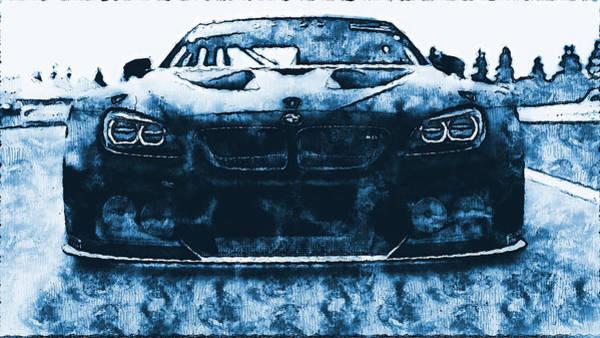 Digital Art - Bmw M6 Gt3 - 30 by Andrea Mazzocchetti