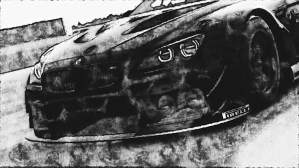 Digital Art - Bmw M6 Gt3 - 33 by Andrea Mazzocchetti