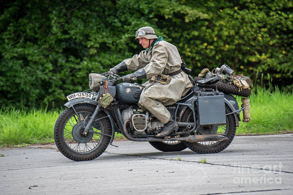 Photograph - Bmw Military Motorcycle by Arterra Picture Library