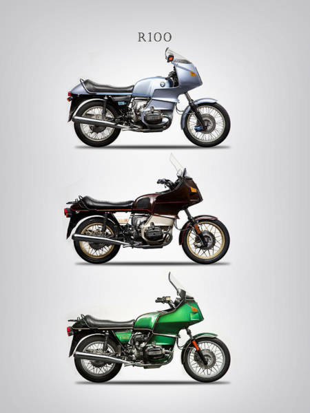 Photograph - The R100 Motorcycle Trio by Mark Rogan