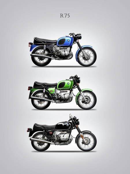 Photograph - The R75 Motorcycle Trio by Mark Rogan