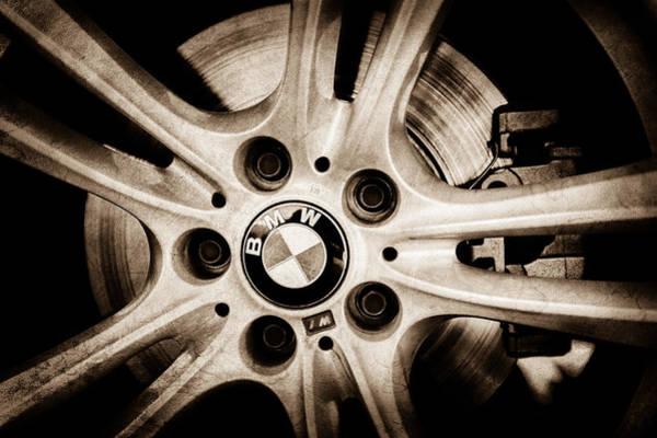 Photograph - Bmw Wheel Emblem -0049s by Jill Reger