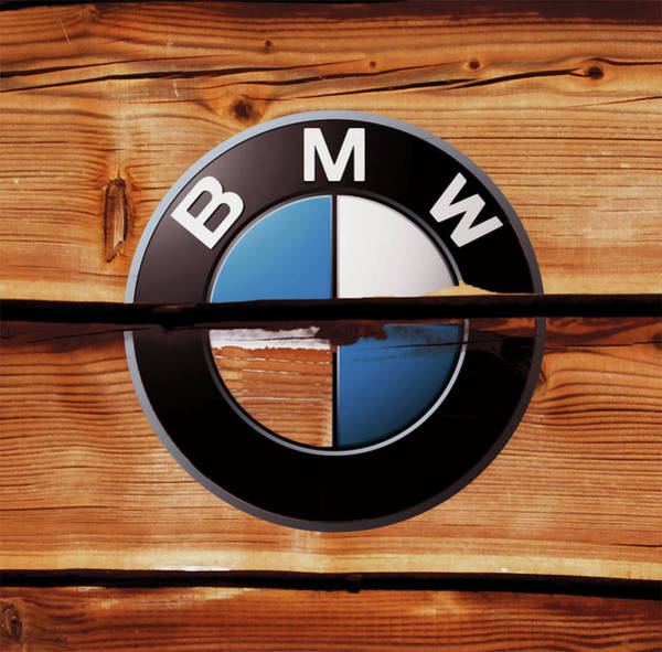 Super Car Mixed Media - Bmw Wood Art by Brian Reaves