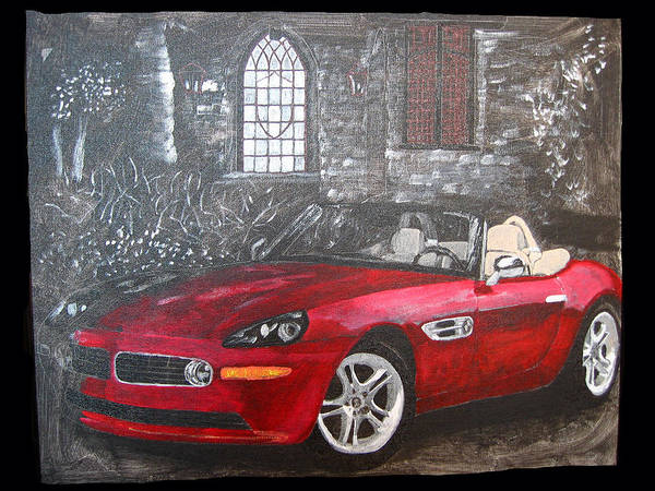 Painting - Bmw Z8 by Richard Le Page