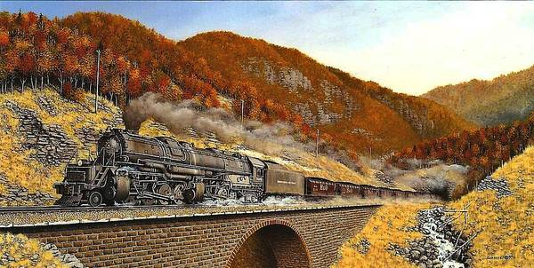 Freight Trains Painting - Bo Class M1 In West Virginia by William Gardoski