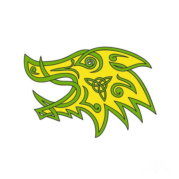 Unbroken Wall Art - Digital Art - Boar Head Celtic Knot  by Aloysius Patrimonio