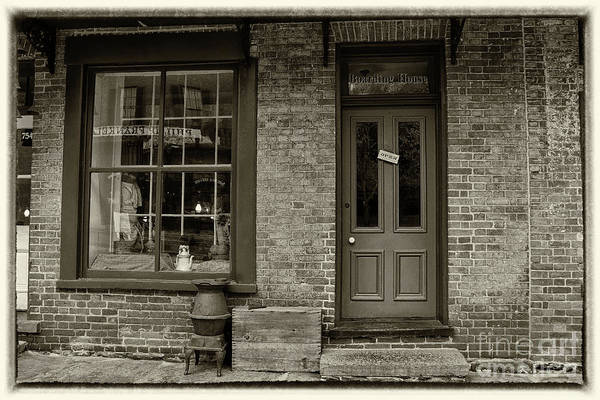 Photograph - Boarding House Sepia With Border by Karen Adams
