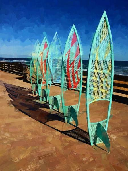 Photograph - Boards In A Row by Alice Gipson