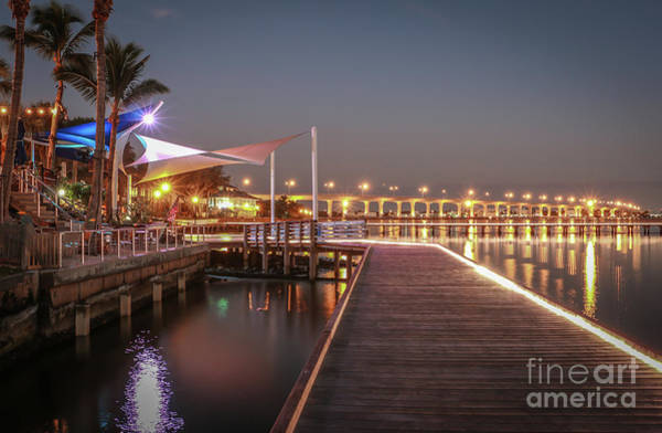 Photograph - Boardwalk And Bridge by Tom Claud