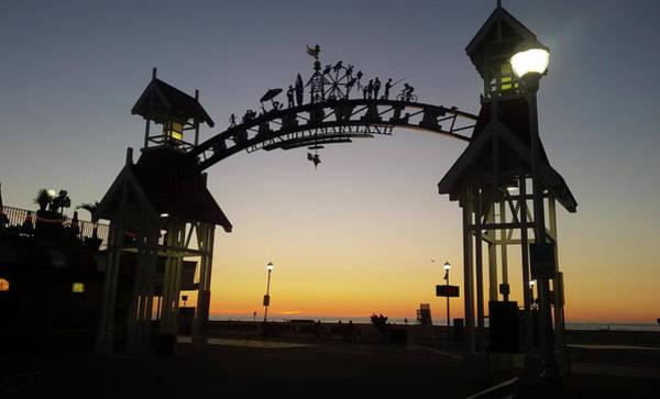 Photograph - Boardwalk Arch At Dawn by Robert Banach
