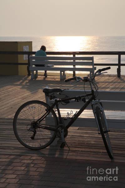 Photograph - Boardwalk Bicycle At Sunrise by William Kuta