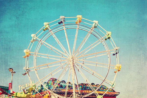 Boardwalk Ferris Wheel Art Print