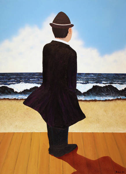 Boardwalk Man Art Print