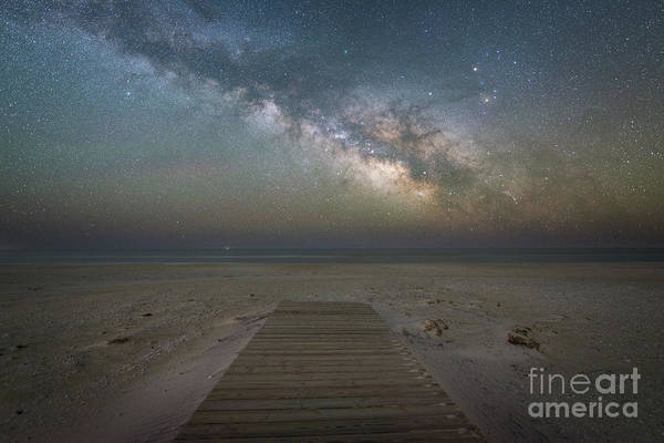 Photograph - Boardwalk Milky Way  by Michael Ver Sprill