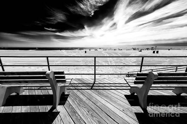 Photograph - Boardwalk Shadows Asbury Park by John Rizzuto