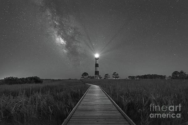 Wall Art - Photograph - Boardwalk To Bodie Bw  by Michael Ver Sprill