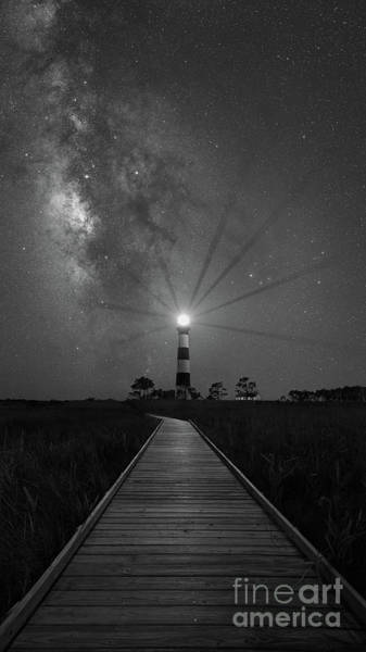 Wall Art - Photograph - Boardwalk To Bodie Island Light Bw by Michael Ver Sprill