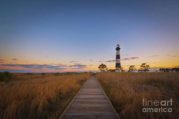Wall Art - Photograph - Boardwalk To Bodie Island Light by Michael Ver Sprill