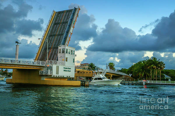 Photograph - Boat And Bridge by Tom Claud