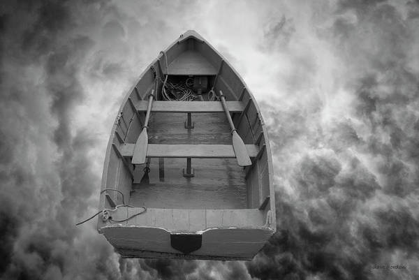 Photograph - Boat And Clouds by Dave Gordon