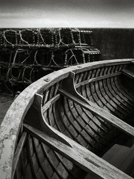 Fishing Boat Photograph - Boat And Creel Nets by Dave Bowman