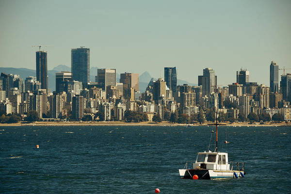 Photograph - Boat And Vancouver by Songquan Deng