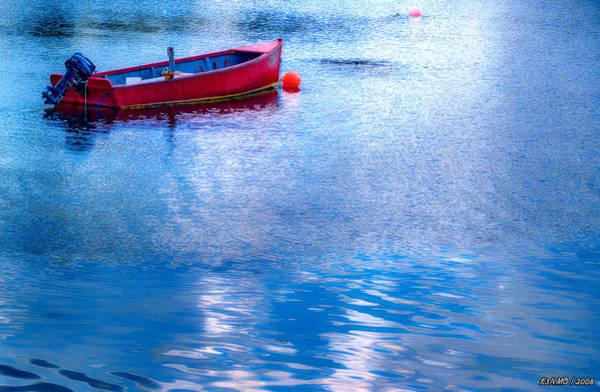 Ken Morris Digital Art - Boat At Boutilier's Point by Ken Morris