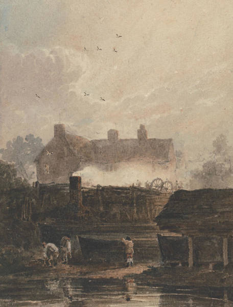 Painting - Boat Building - Dockyard At Birmingham by David Cox