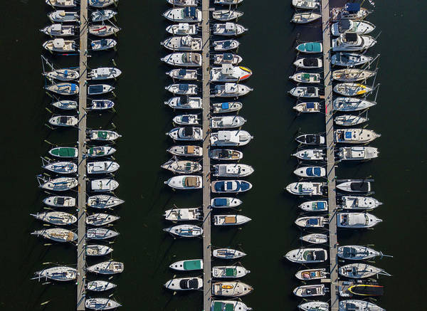 Wall Art - Photograph - Boat Docks Aerial Photograph by Stephanie McDowell