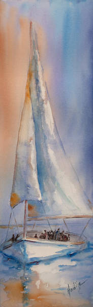 Subtle Painting - Boat Full Of Hope by Mary DuCharme