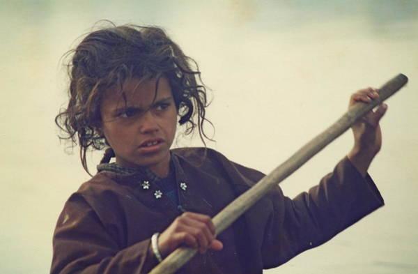 Dal Lake Photograph - Boat Girl by Gila Rayberg