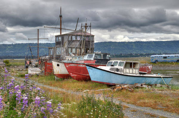 Photograph - Boat Graveyard by Gloria Anderson