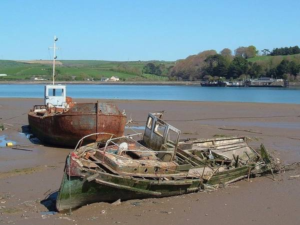 Beyond Repair Photograph - Boat Graveyard by Richard Brookes