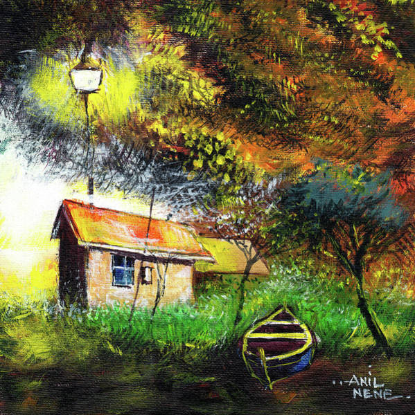 Painting - Boat House by Anil Nene