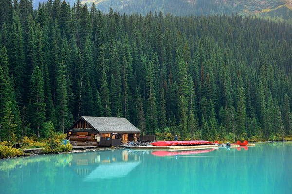 Photograph - Boat House by Songquan Deng