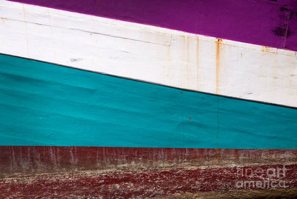 Wall Art - Photograph - Boat Hull Abstract by Delphimages Photo Creations